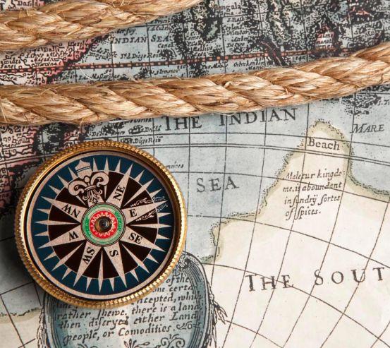 Фотообои Карта и компас 13248