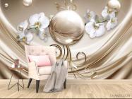 Фотообои Орхидеи и шар - 4