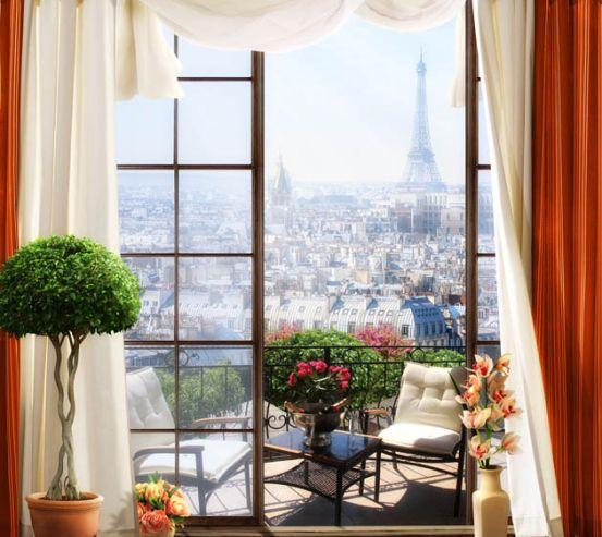 Фотообои Вид из окна на Париж 22444