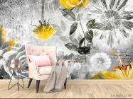 Фотообои 3d цветочная композиция - 4
