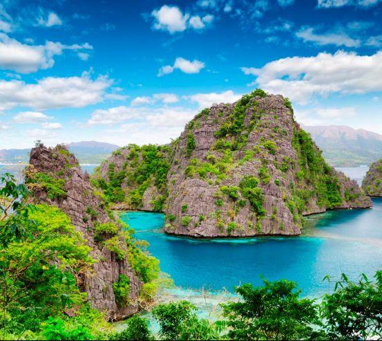 Фотообои Горы в зелени 10883