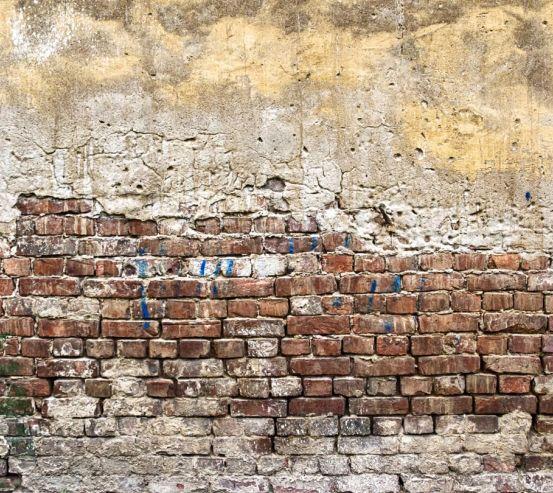 Фотошпалери Жовто-біло-червона цегляна стіна 21151