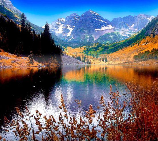 Фотообои Тень, горное озеро 13127