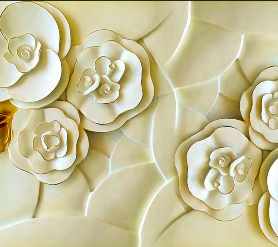 Фотообои Керамические цветы цвета слоновой кости 20208