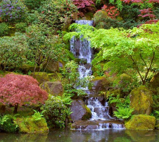 Фотообои Водопад, озерцо 1294