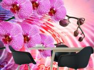 Фотообои Сиреневые распустившиеся орхидеи - 1
