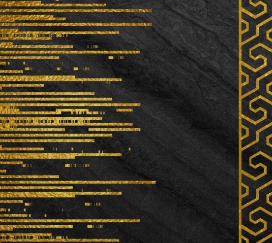 Фотообои Стена с золотыми полосками 23983