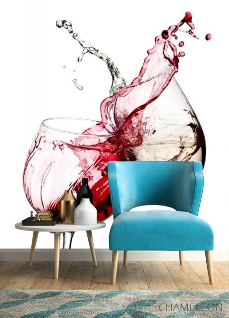 Фотообои красное и белое вино - 4