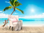 Фотообои Пальма, солнце, пляж - 4