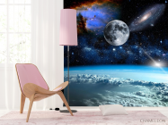 Фотообои космос и луна над олаками - 4