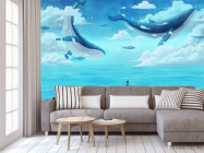 Фотообои Два кита в море - 3