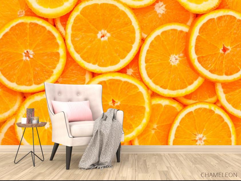 Фотообои Нарезанные апельсины - 4