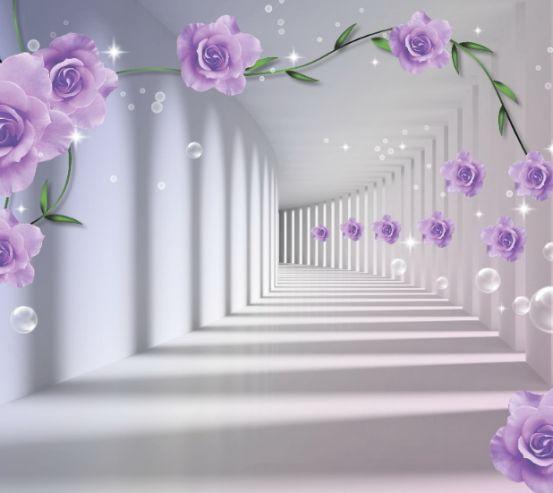 3D бутони фіолетових троянд 15982