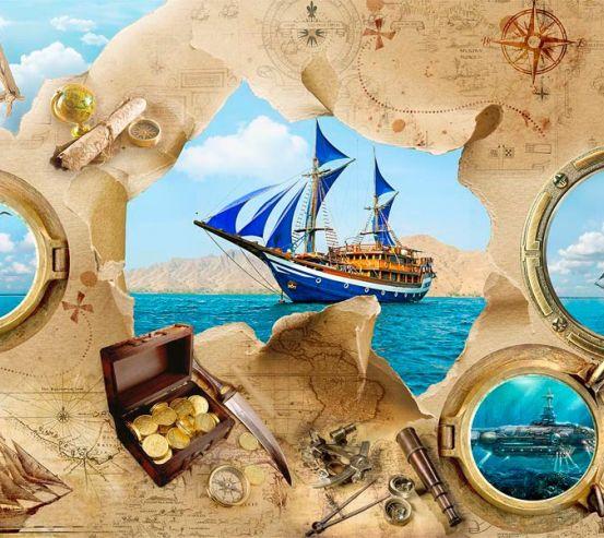 Фотообои Пиратская карта 18846