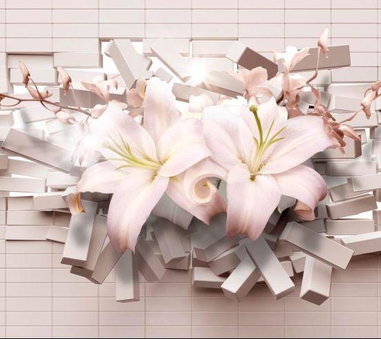 Фотообои 3d лилии 18760