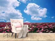 Фотообои Цветы, небо, тучи - 4