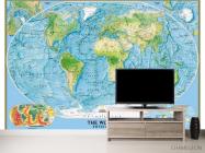 Фотообои Физическая карта мира - 2