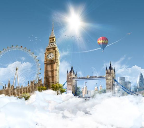 Фотообои Лондон воблаках 20604