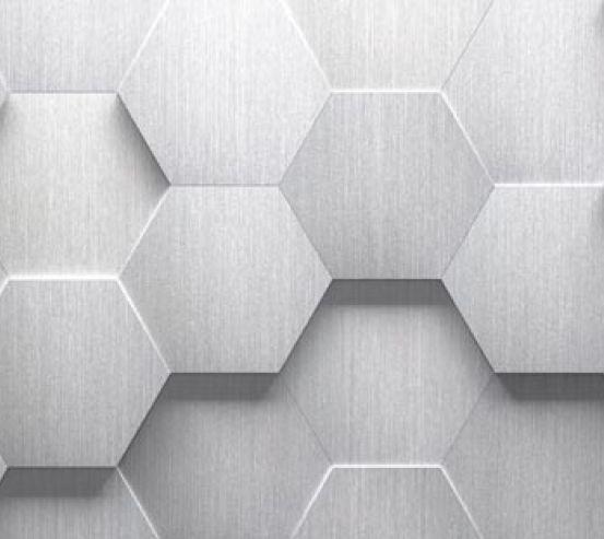 Фотообои серые выпуклые шестиугольники 21349