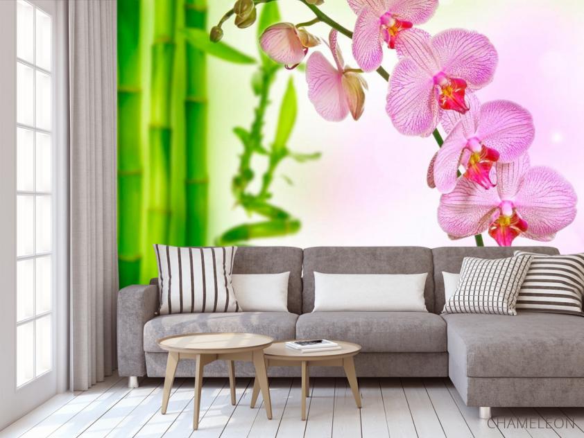 Фотообои Орхидеи и бамбук - 3