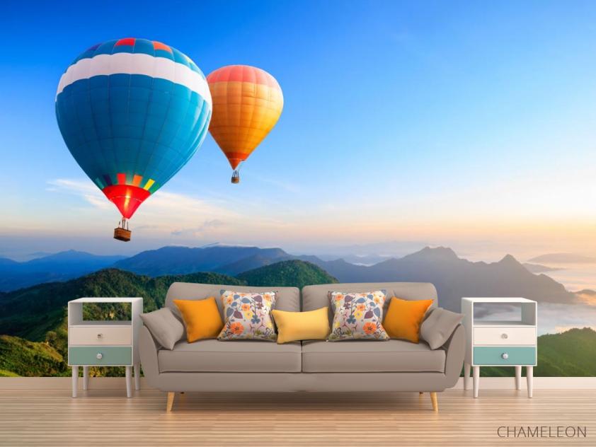 Фотообои воздушные шары над горами - 1