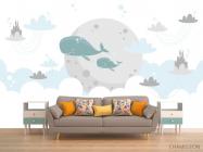 Фотообои Милые киты - 1