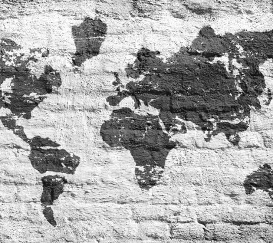 Фотошпалери Картами світу на тлі цегли 22708