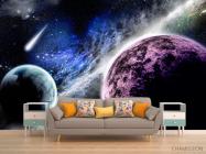 Фотообои Планеты и метеорит - 1