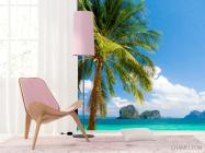 Фотошпалери пальма на березі моря - 4