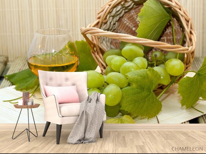 Фотообои зеленый виноград - 4