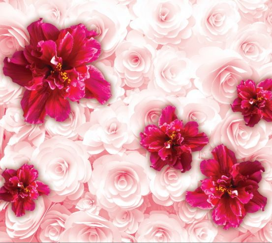 Фотообои 3D цветы  16994