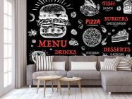 Фотообои Для бургерной/пиццерии - 3
