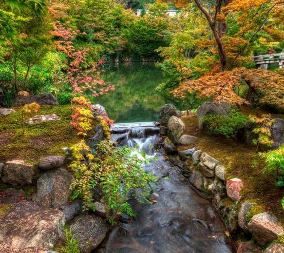Фотообои Водопад, озерцо 0861