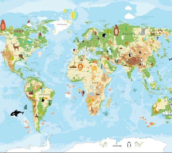 Фотообои Карта в детскую  24158