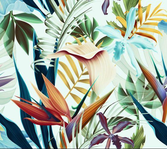 Фотообои Яркие тропические листья 23384