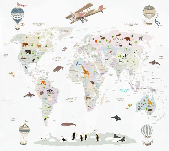Фотообои Карта в детскую  24132