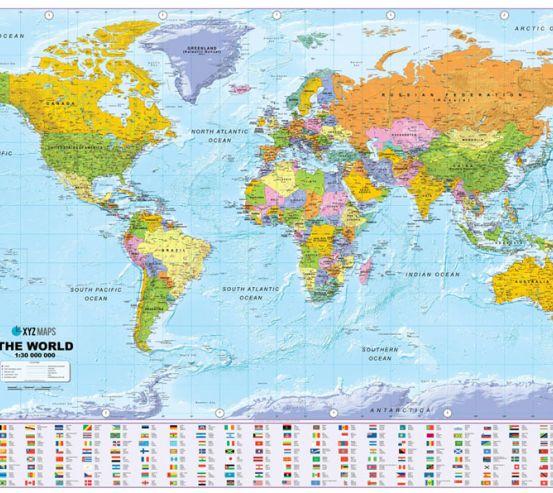 Фотошпалери Карта світу  22587