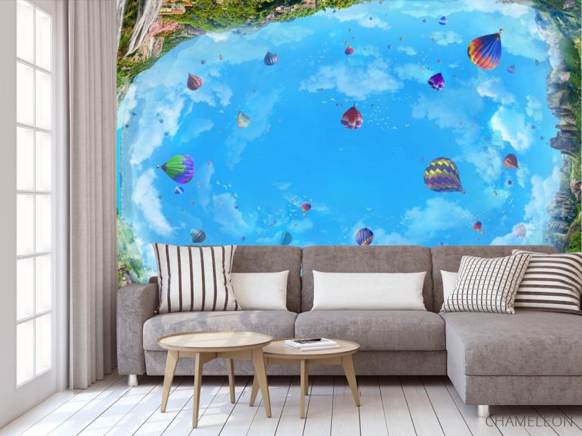 Фотообои Воздушные шары на потолок - 3