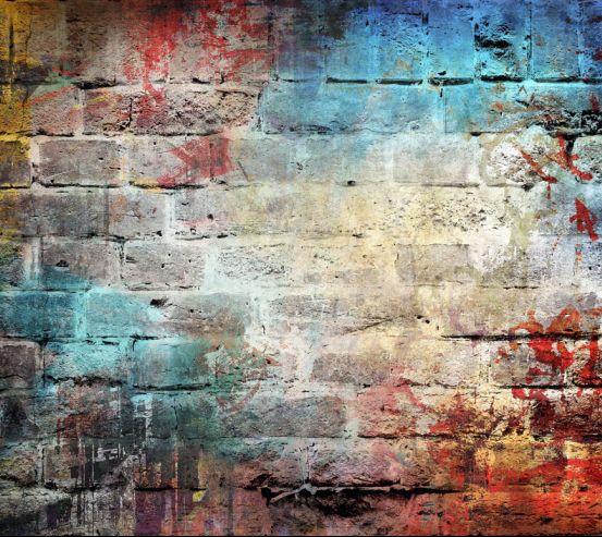Фотошпалери Різнобарвна цегляна стіна 20217