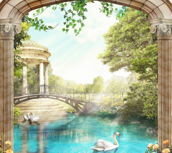 Фотошпалери Вид з арки на Венецію 26775