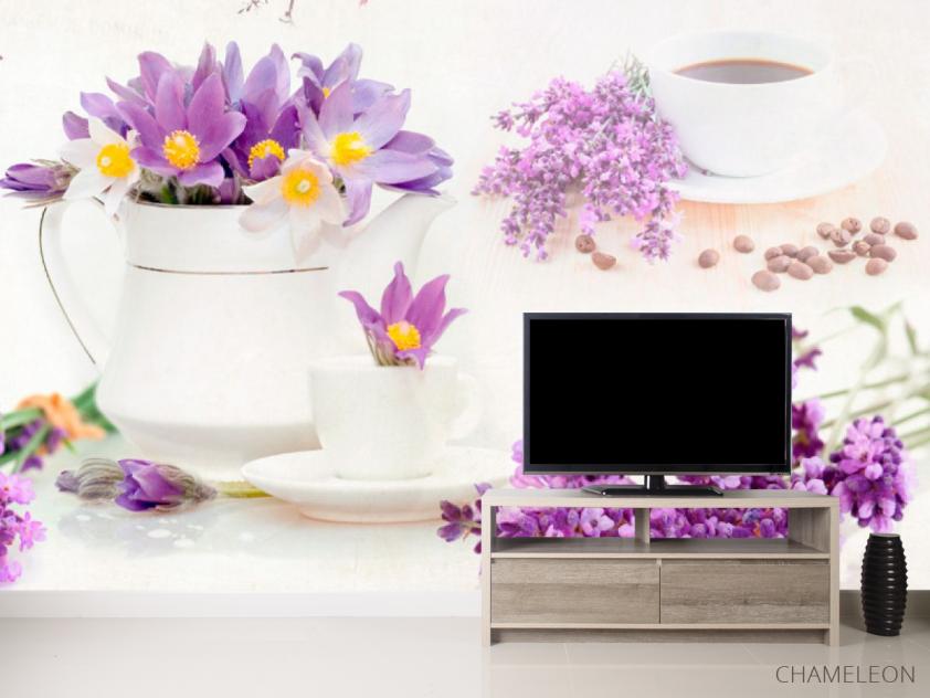 Фотообои в кухню Цветы - 2