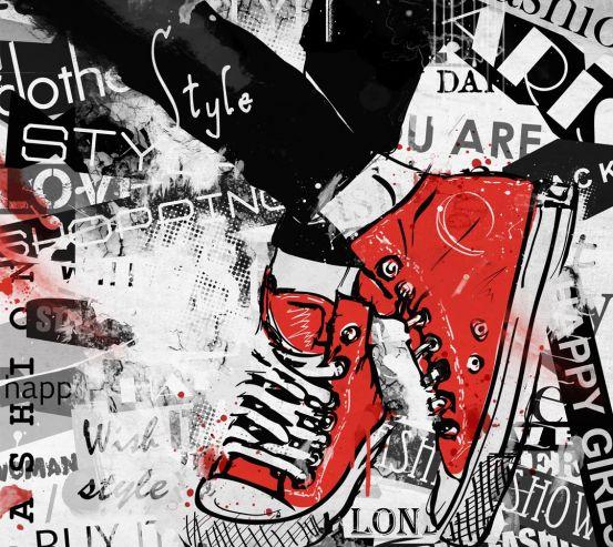 Фотообои графити кеды 21050