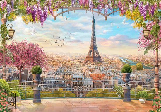 Фотообои Балкон, дерево, город