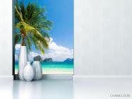 Фотообои пальма на берегу моря - 1