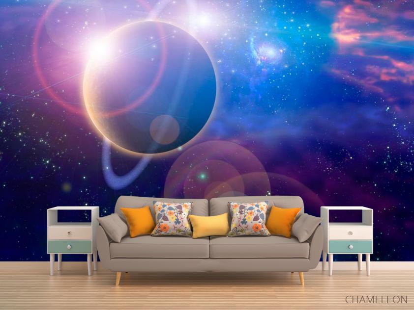 Фотообои Планета и млечный путь - 1