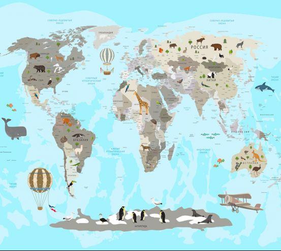 Фотообои Карта в детскую  24133