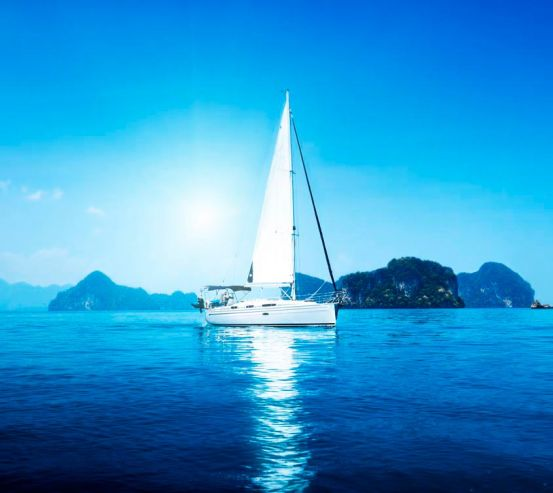 Фотообои Белая яхта 8989