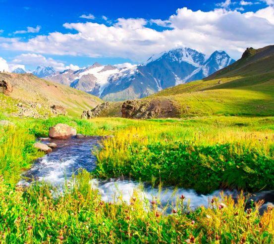 Фотообои Ручей, горы 1583