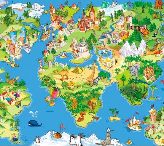 Фотообои Карта сказочного мира 3033