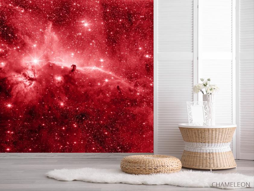 Фотообои красный космос - 2